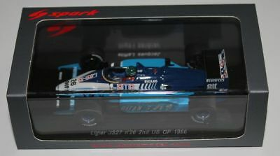 "Spark LigierJS27 J.Laffite ""2nd US GP 1986"" in 1/43 OVP"