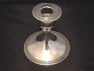 Antique Edwardian Silver Candlestick/Candle Holder Chester 1911 by S Blanckensee