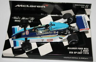 "Minichamps McLaren Ford M26 J.Hunt.""USA GP East GP 1978"" in 1/43 OVP"