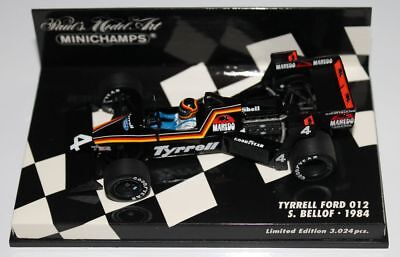 "Minichamps Tyrrell Ford M26 S.Bellof.""Limited Edition 3024 pcs."" in 1/43 OVP"