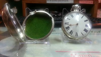 18th Solid Silver Pair Case verge