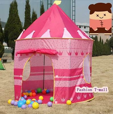 Childrens Kid Pop Up Castle Play House Girls Princess Boys Wizard Tent Xmas Gift