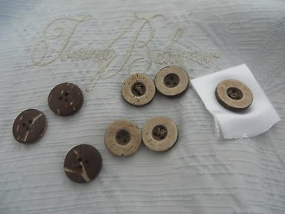 TOMMY BAHAMA SILK CAMP SHIRT replacement buttons coconut wood  8