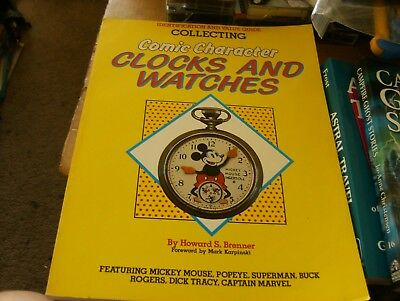 Comic Character Watches by Howard S. Brenner, Sc Book,VG-Shape,1987