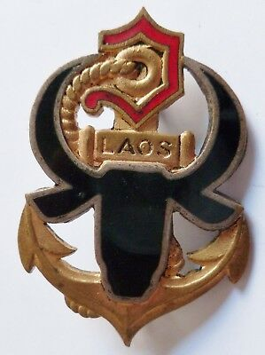 Insigne Indochine FORCES FRANCAISES AU LAOS Troupes Coloniales ORIGINAL Drago
