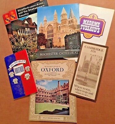 Lot of 7 Vintage British Travel Booklets and Brochures (#5)