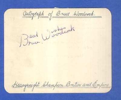 Bruce Woodcock signed card to collector in Caledonian Road Workington Cumberland