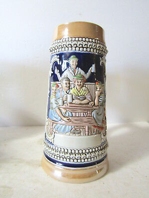 Budweiser CS5 Pileque Stein Cobalt with Shinny Finish Variation 8 1/2 Inch tall