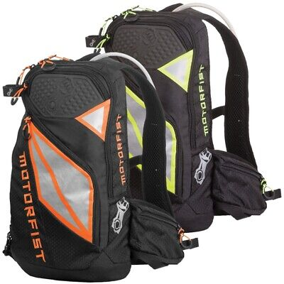 Motorfist Scout Backpack Vented Back Panel Black Orange Hi-Vis Gray - 20893-__00