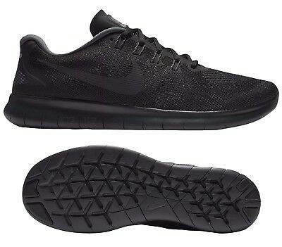 80b6db9de2d24 NEW NIKE FREE RN 2017 Men s Running Shoes black anthracite all sizes ...