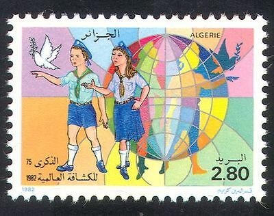 Algeria 1982 Scouts/Scouting/Guides/Dove/Birds/Youth/Leisure/Nature 1v (n39335)