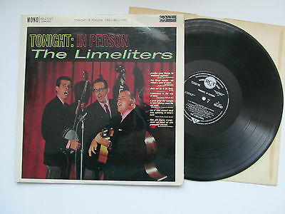 The Limeliters - Tonight: In Person. 1961 Rca Lp.