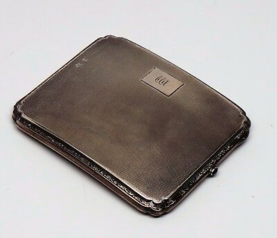 ANTIQUE STERLING SILVER CIGARETTE CASE L.C.B Co Ltd London Import 1925