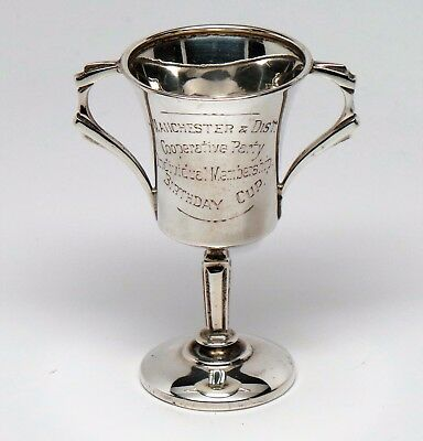 Sterling Silver Manchester & District Cooperative Party Birthday Cup