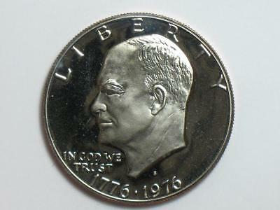 1976-S Eisenhower Dollar Clad Proof - Bicentennial Type 2 - Ike $ Coin