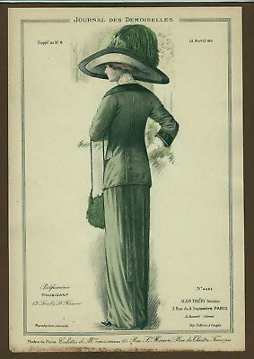 Mode Damenmode Ladies ' Fashion No 2, franz Farblithographie datiert 1911