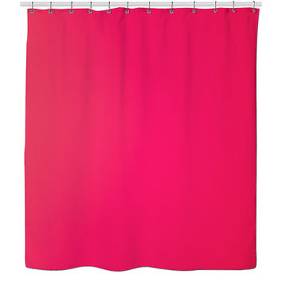 PEVA Hot Pink Shower Curtain Liner W Magnets Eco Friendly Mildew Resistant NEW