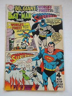 Dc World's Finest #179 80-Pg Giant #g-52 1968 Neal Adams Cover