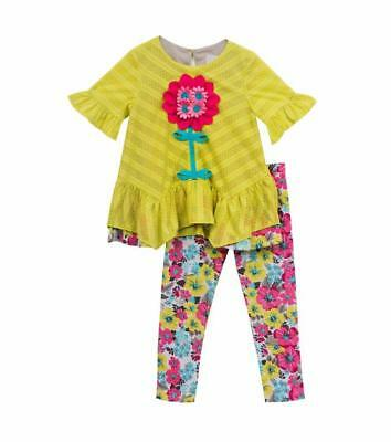 RARE EDITIONS® Toddler Girl's 2T Floral 2 Pc. Tunic Top & Leggings Set NWT