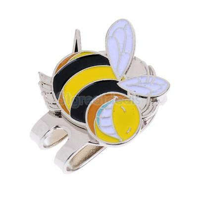 Portable Alloy Little Bee Golf Ball Marker w/ Magnetic Golf Hat Clip