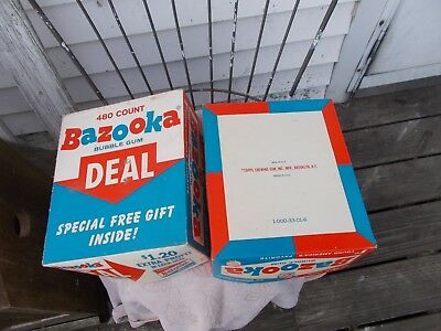 Vintage   Bazooka  Joe   Bubble   Gum   Box  480   Count  Large  Box 1 Cent