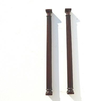 Pair Of Antique Hand Turned Wood Columns For Clock/grandfather Clock