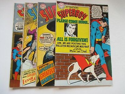 Dc Superboy #146,148,149,150 Neal Adams Covers 1968