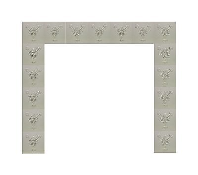 Antique White Floral Fireplace Surround