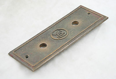 1900's Staley Cast Bronze Elevator Plate