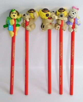 Lot of 5 Pound Puppies Vintage Character Pencils 1986 Tonka UNSHARPENED