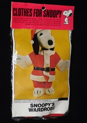 Snoopy's Wardrobe Santa Claus Suit Outfit Costume Clothes for Vintage Plush