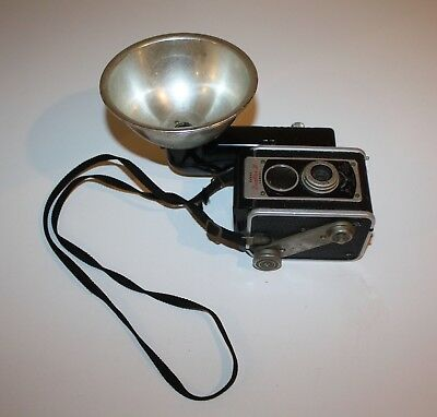 Vintage Antique Kodak Camera With Flash Duaflex Iii