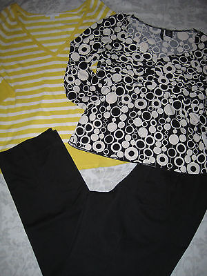 #199 Womens 3pc Outfit Lot Pants 12 Top PL Sweater L