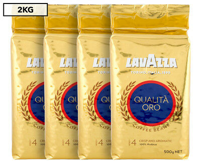 4 x Lavazza Qualità Oro Coffee Beans 500g
