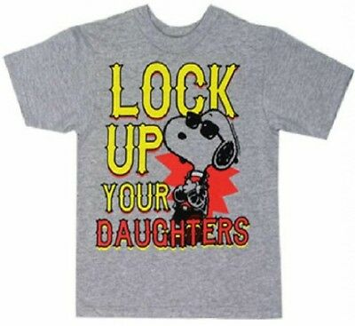 NEW Snoopy Lock up your daughters toddler shirt clothing 3t peanuts