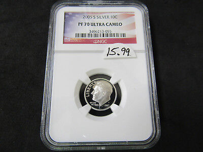 2005-S Silver Proof Dime NGC PF 70 Ultra Cameo
