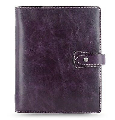 Filofax Malden Purple A5 Size Leather Organizer Agenda Calendar with DiLoro J...