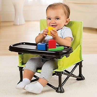 Infant Portable Highchair Seat Folding Chair Travel Lightweight Booster Tray