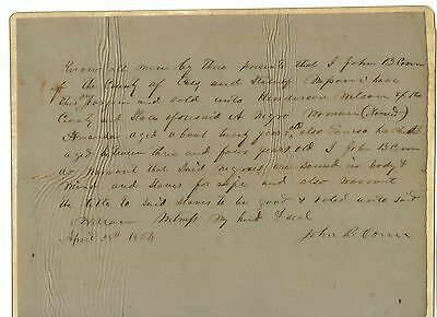 Slave Bill of Sale 1854 Mother and Child