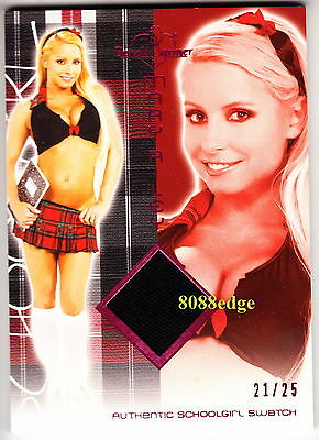 2012 Benchwarmer Schoolgirl Swatch: Mary Riley #21/25 Worn Bra Top Hot 4 Teacher