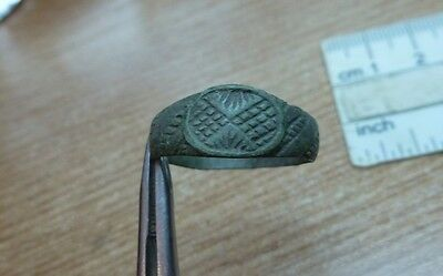 Rare Late Medieval Bronze  Ring - #2041