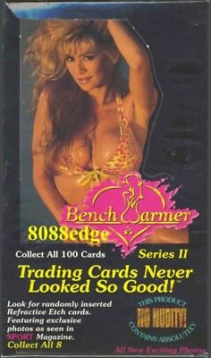 1994 Benchwarmer Series 2 Factory Sealed Box: Sext Hot Swimsuit Etch Inserts