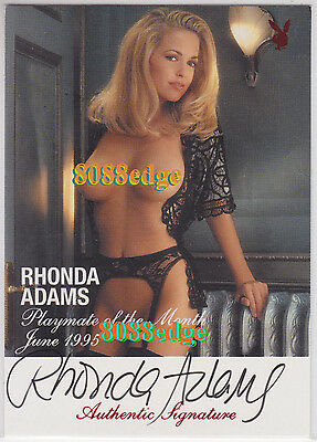 "1994-96 Centerfold Update Auto Red: Rhonda Adams - Autograph ""any Given Sunday"""