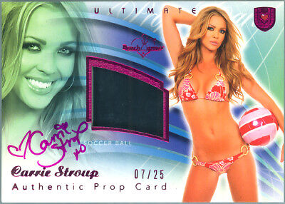 2010 Benchwarmer Ultimate Prop Auto:carrie Stroup 7/25 Autograph Swatch Miss Usa