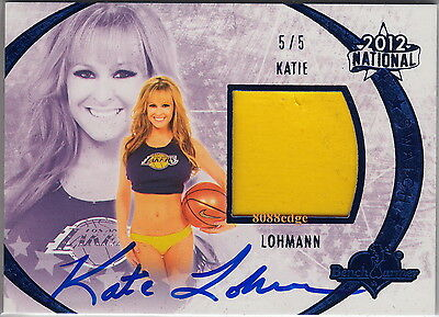 2012 Benchwarmer National Worn Bikini Bottom Auto: Katie Lohmann #5/5 Autograph