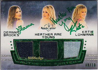 2012 Benchwarmer Worn Jeans Auto:deanna Brooks/heather Young/katie Lohmann #9/10