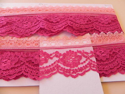 Card of New Lace - 2 pinks
