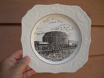 FORD BUILDING 1934 CENTURY of PROGRESS WORLD'S FAIR Vintage Souvenir China Plate