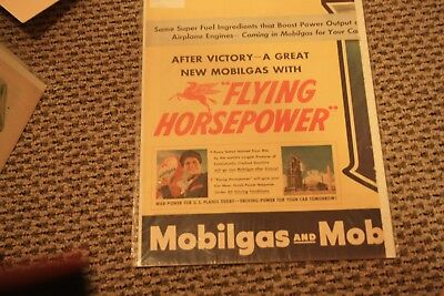 1944 Mobil Gas and Mobil Oil Advertisement  After Victory A Great New Mobil Gas