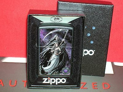 "New Zippo ""anne Stokes Collection - Lady With Reaper"" #28856-Save$$$ Here!"